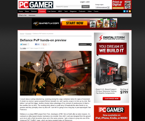 PCGAMER featured 2 of my photos on their page. The headliner image was taken by me :) I never realized how difficult it was taking these screenshots and actually getting them approved. I'm learning so much at Trion!