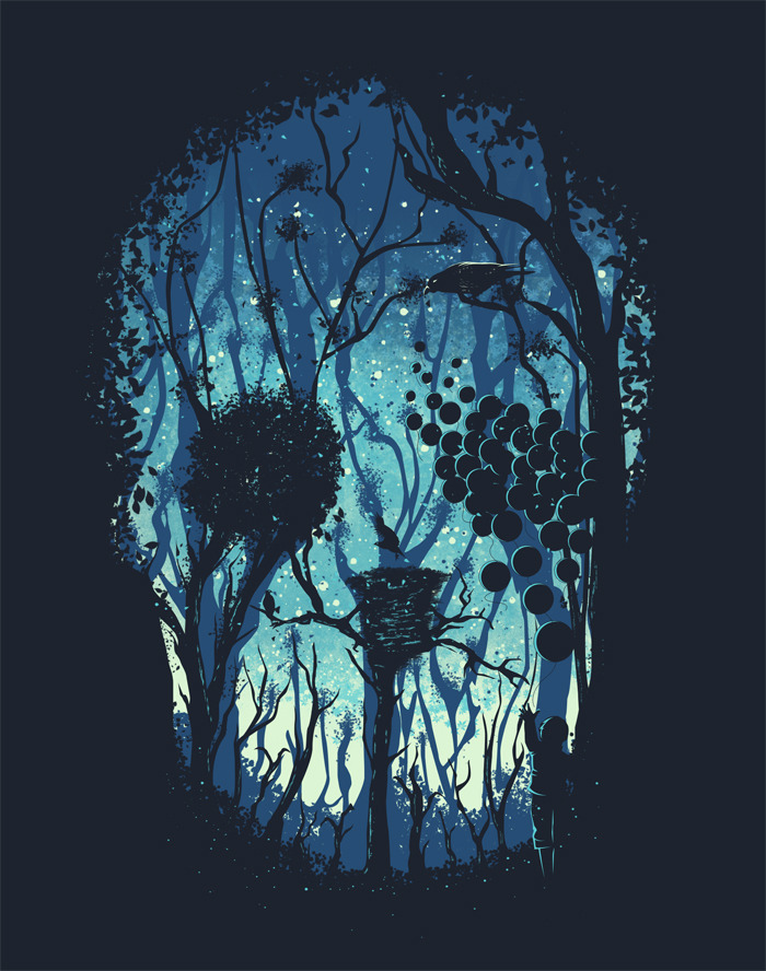 Somber Quietus on Threadless! I am going to make another illustration like this and hopefully I can start it today [Hooray for two day-vacation!]. Hope you guys can score this a '5' if you have an account. Thank you! Anyway, this illustration has an illusion, could you spot it?