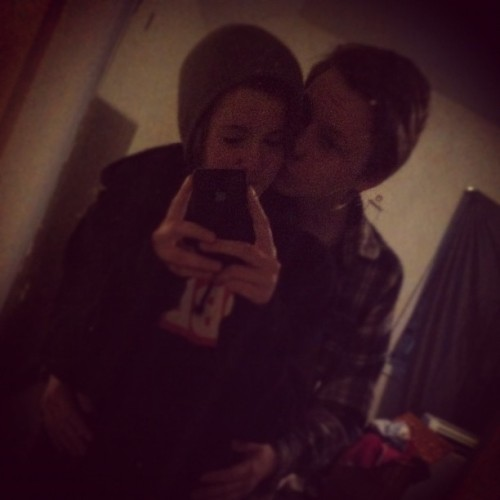 Cuties #obey #couple #sleepover (Taken with Instagram)