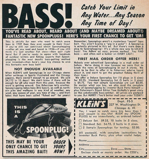 (via Buck Perry Spoonplug: 1959 | Fishing Blog & News)