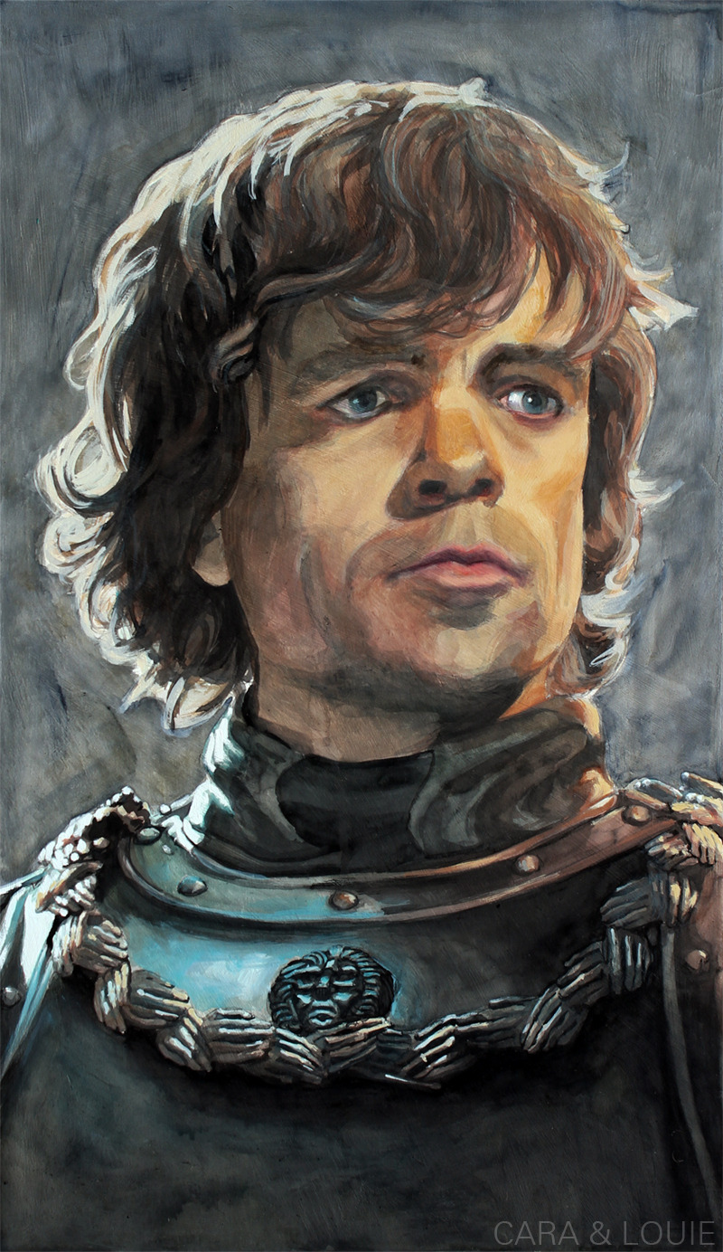 gameofthrones:  Tyrion during the Battle of BlackwaterInk and Paint on a 24x14in PanelCara & Louie
