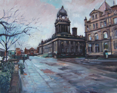 Leeds Town Hall My Painting by Captain Wakefield on Flickr. oil 20 x 16 inches