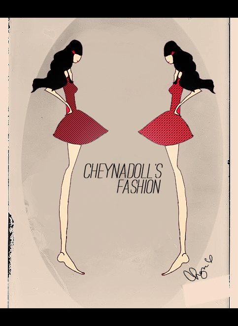 """Cheynadoll's Fashion"" - drawn by me! Used SAI and Adobe~ ;)"