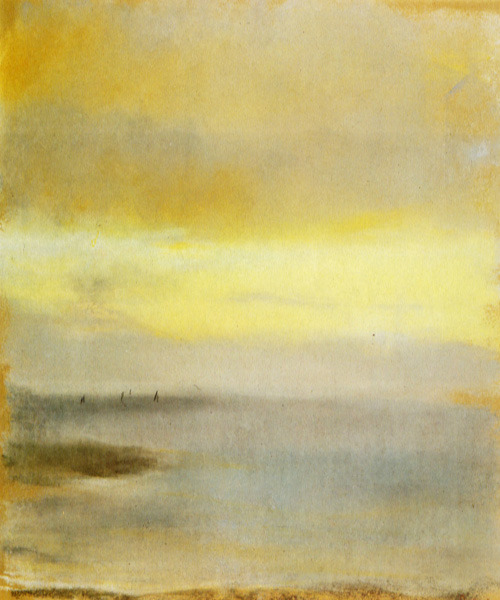 theparisreview:  Word inspiration: Edgar Degas, Marina Sunset (1869).