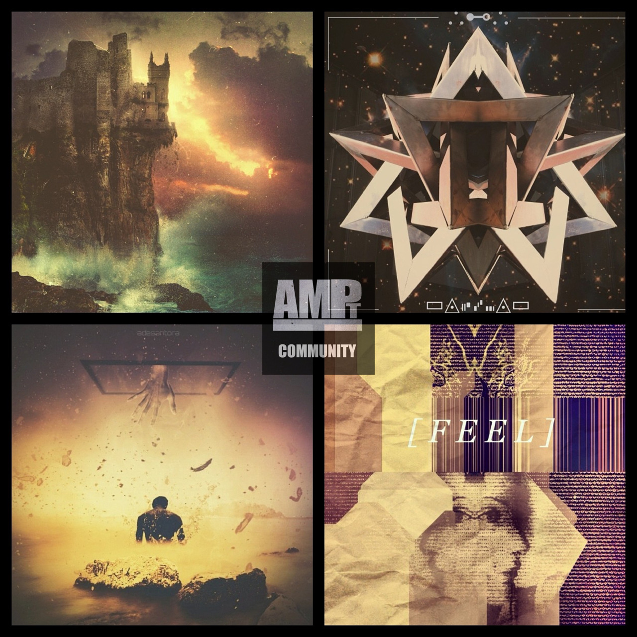 AMPt Community Recommendations   Here are 4 IGers we would like to introduce you to. Stop by their feeds,say hello and check out their editing process for the images above!   Clockwise from top left:   @merekdavis  Shot with native camera Apps used: blender, artstudio   @jesserather27  Apps used: diptic, blender, galaxyFX   @muzbanger  Shot with native camera  Apps: decim8, blender, montage    @adesantora  Shot with standar cam  Apps used:filtermania2, superimpose, photoforge, snapseed      Thank you for sharing with #AMPt_Community! Interested in having your work seen and considered for a spotlight? Tag to #Ampt_Community and include apps used and your editing process in the comment.    TIP: Listing the apps used to shoot/edit is a requirement for all nominated/featured images. Make your image standout by providing this information!