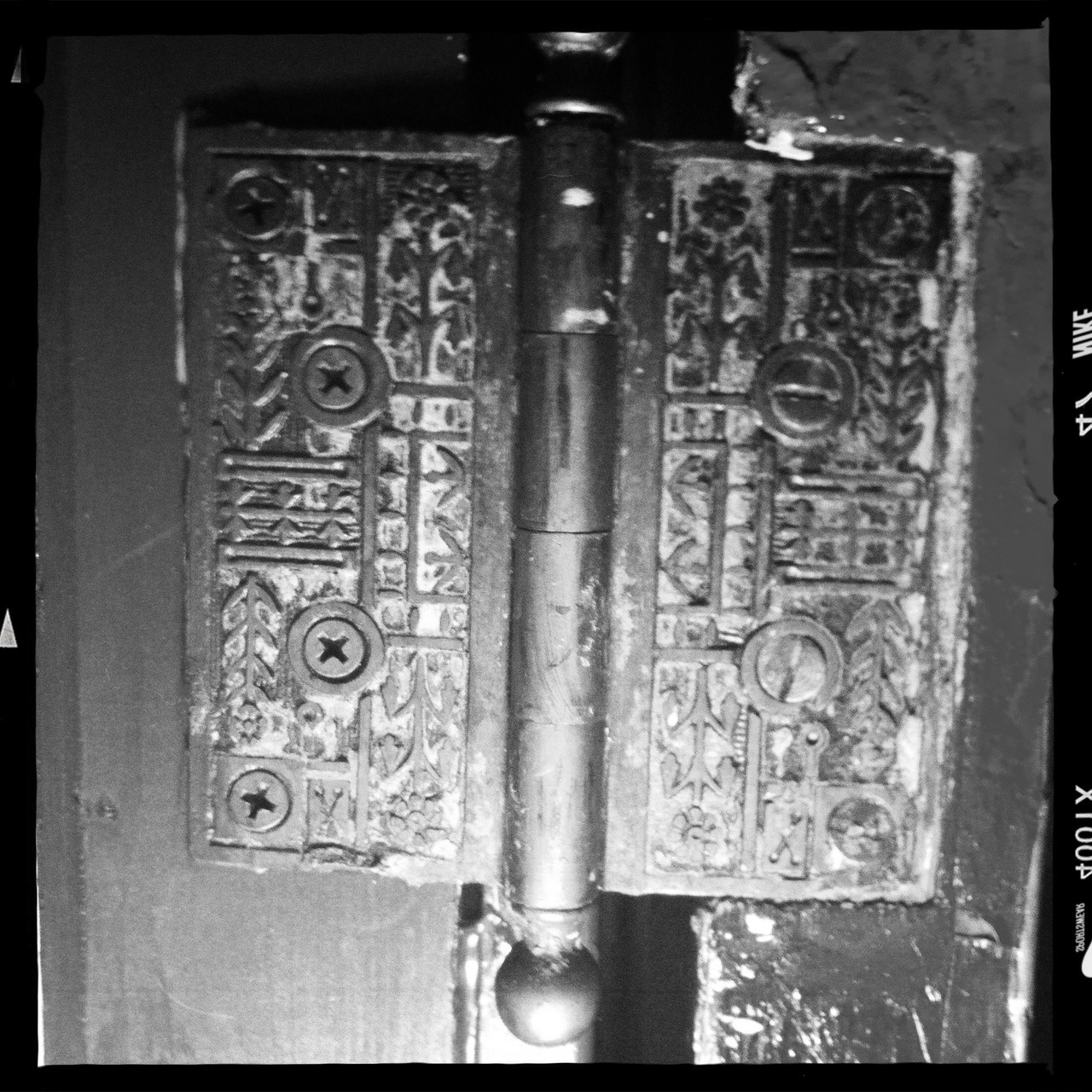 Even the hinges are beautiful on this 120-year-old door. Now that's a attention to detail.