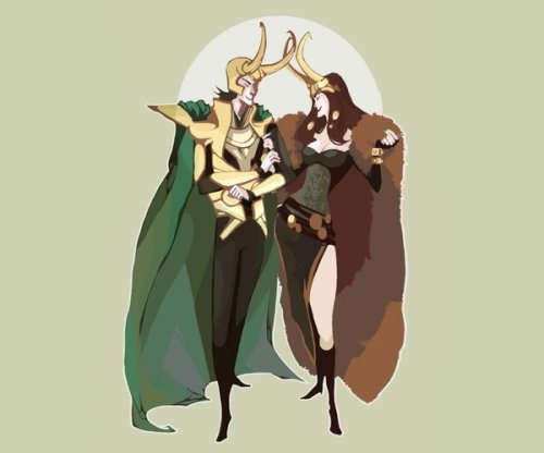 loki and lady loki by ~kth