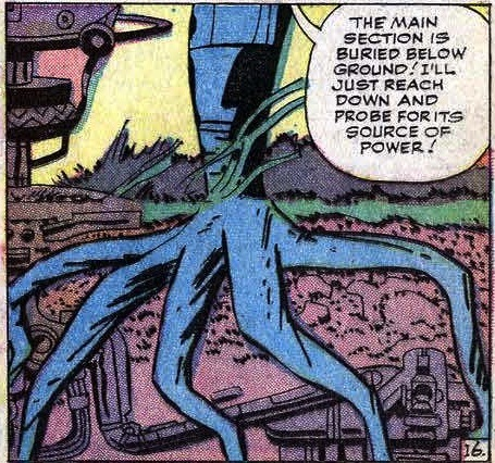 mattasticfour:  Fantastic Four #21 (1963)  Great panel. Over the last twenty - thirty years, writers have focused on Reed's prodigious intellect to the degree that his powers have almost become an afterthought. I'd like to see creators (maybe Fraction/Bagley/Allred?) spend a little more time showing how Reed's intellect informs how he uses his powers. I imagine that there are a lot of creative uses for his powers that haven't been explored.