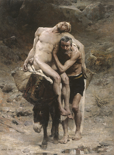 classic-art:  The Good Samaritan Aime Morot