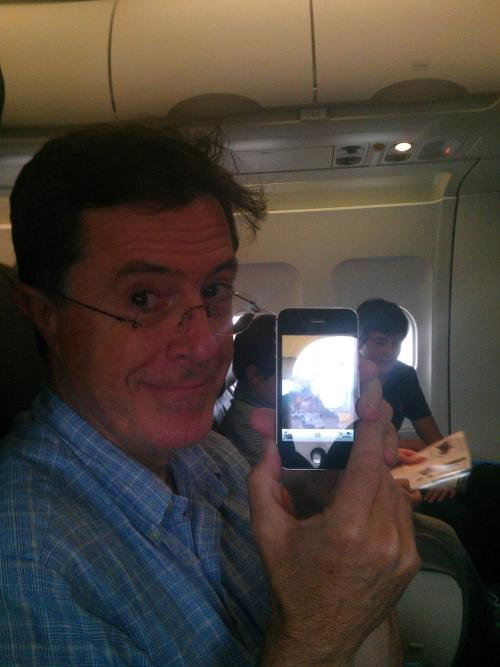 I met Stephen Colbert on a flight to Wyoming, and all I got was this awful photo