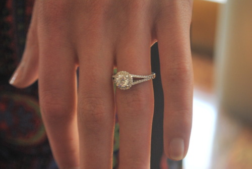 Melissa Kooy's engagement ring