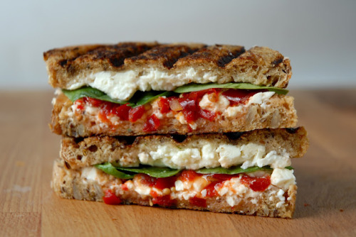 foodopia:  the buffer - feta, roasted red peppers, and spinach: recipe here