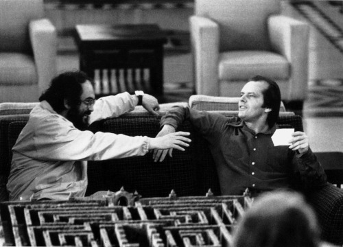 talent-only:  Stanley Kubrick and Jack NicholsonThe Shining | 1980