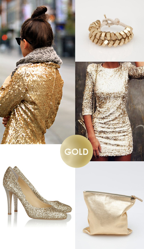 Color my style: Gold There's something going on with glitter and gold. Gold is prominent in fashion today, you can wear it whenever you want and wherever you want (not only on new year's eve!). Is it a bit to decadent for you? Go for some golden accessories, like these fantastic golden high heels! Images: Pinterest| Need supply | Pinterest | Jimmy Choo | Need supply more Color my style here