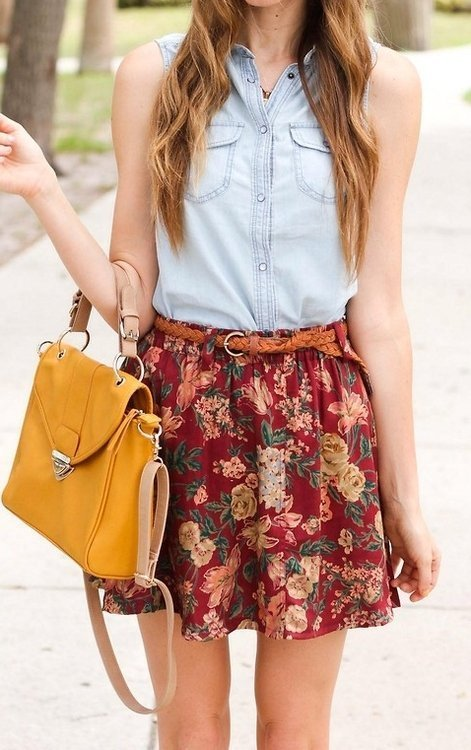 Denim + Floral = Perfect Combo