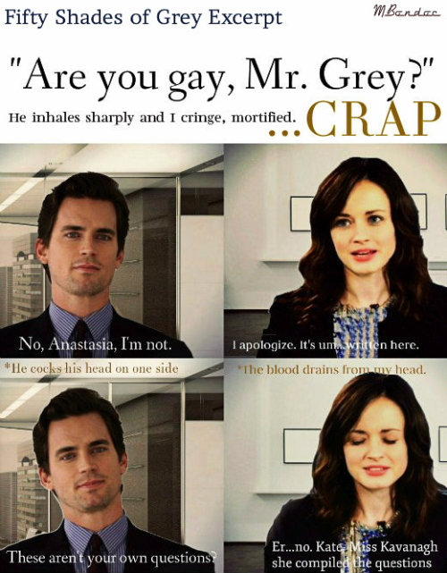 Team Matt Bomer and Alexis Bledel! :D ♥ Here's an Excerpt from the book that I made that I found amusing :)