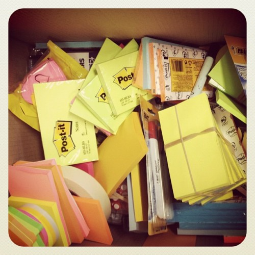 Have you ever seen so many post is notes? #workshops (Taken with Instagram)
