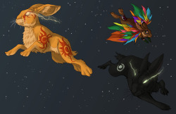 An unfinished Watership Down fanart: Spirit's World.