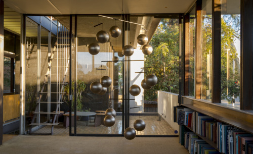 'Architectones' by Xavier Veilhan at Richard Neutra's VDL House, LA