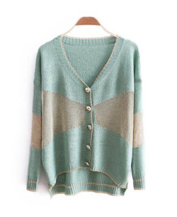 NEONICE Green Stitching Long Sleeve V-neck Sweater http://www.dressesinn.com/neonice-green-stitching-long-sleeve-vneck-sweater-p-5457.html