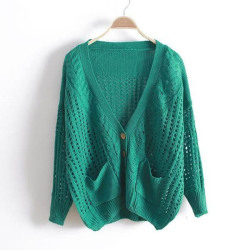 NEONICE Green V Neck Bat Loose Sweater http://www.dressesinn.com/neonice-green-v-neck-bat-loose-sweater-p-5456.html