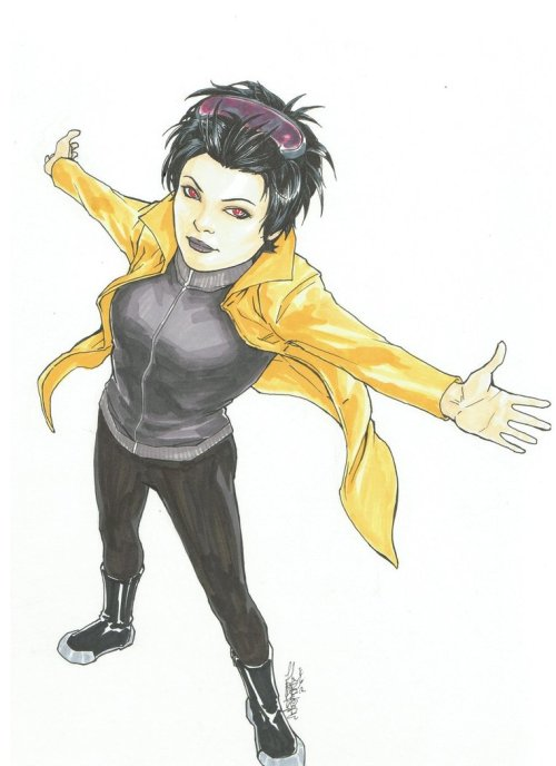 angelophile:  Jubilee by ~CrazyBluePsychopath on Deviantart.