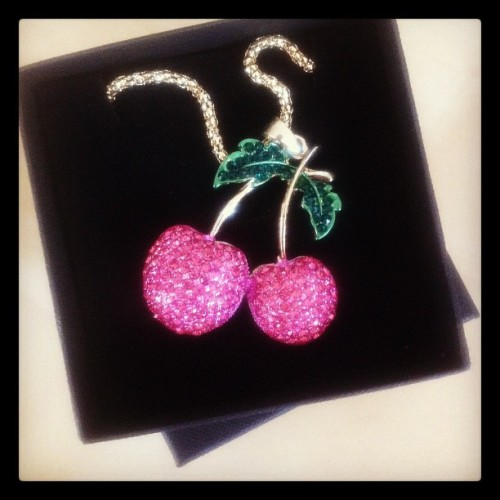 We just love these large cherry necklaces from Glamour Bunny! x