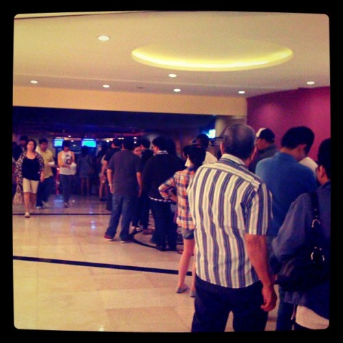 Longest cue for a movie ticket. EVER. (Taken with Instagram)