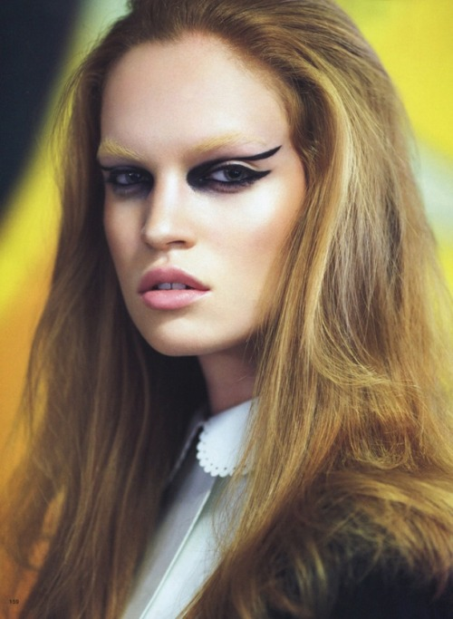 Eyes on the Prize Vogue Japan September 2011 Shot by: Raymond Meier  Models: Luisa Blanchin & Yulla Terentieva