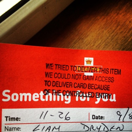 ssshh Royal Mail it's gonna be okay buddy