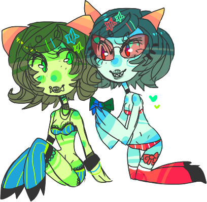 kiriloid:   Anonymous asked:  scratch and sniff please!!! (terezi/nepeta)   Anonymous asked:  Pale TZ and NP?  gets back to requests