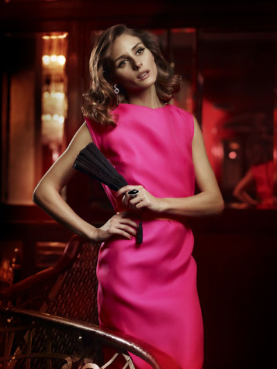 'Passionate and daring' Olivia Palermo, looking glamorous in hot pink, for Spanish jewellery brand Carrera y Carrera.