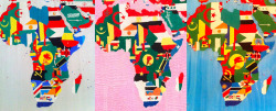 African flags over the years as seen on Boetti's Maps.The MoMA show reviewed at Artbouillon.com / Jesse Prinz http://www.artbouillon.com/2012/08/alighiero-boetti.html