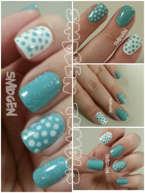 China Glaze For Audrey Sally Hansen White On  Dots dots dots… hehe