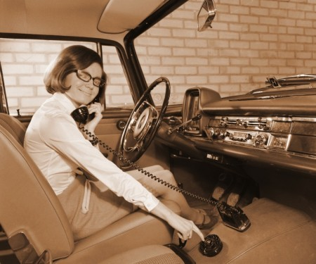 Did you know that the first car phone was introduced in 1971? I didn't. Now we both do.