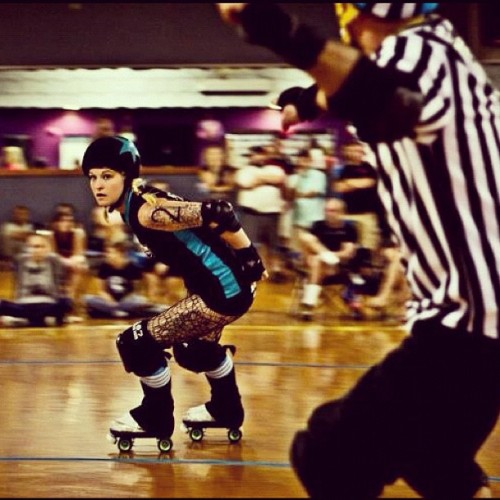 Lead #jammer #derby #rollerderby  (Taken with Instagram at Skate City)