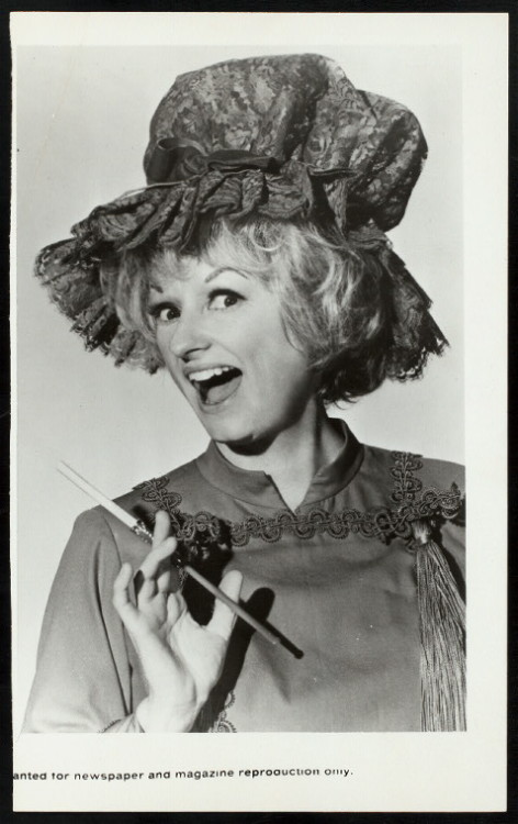 "In memory of the inimitable Phyllis Diller, we share this notable quote of hers: ""A smile is a curve that sets everything straight.""  Thank you Phyllis for decades of curves that set us straight.  (Photo courtesy of NYPL's Digital Gallery)"