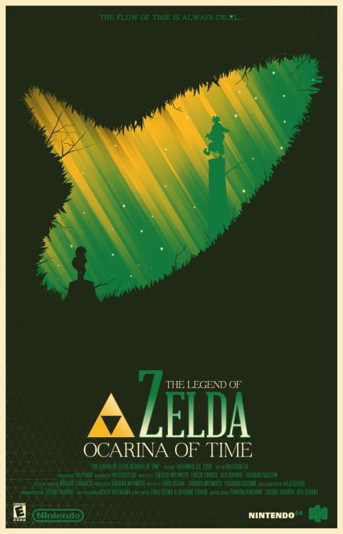 gameandgraphics:  Zelda and Super Metroid tribute posters by Marinko Milosevski.