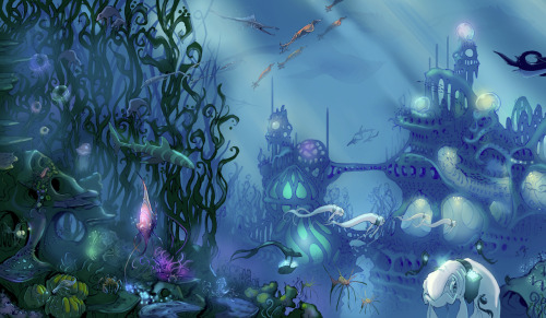Underwater city commission detail.