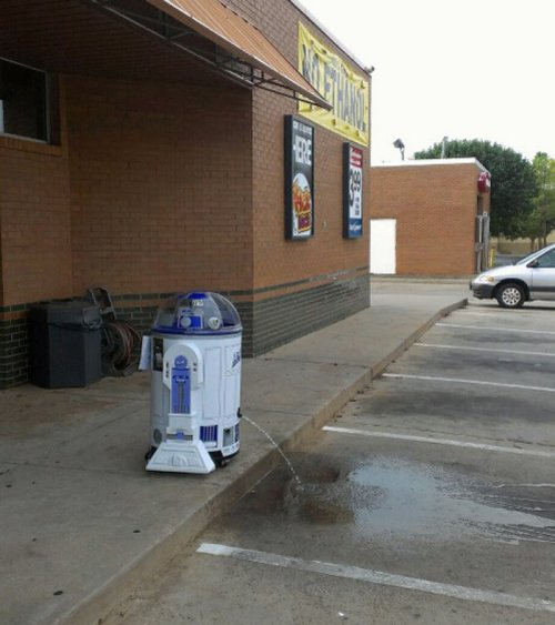 R2-D2 Takes a Leak R2 pee too.