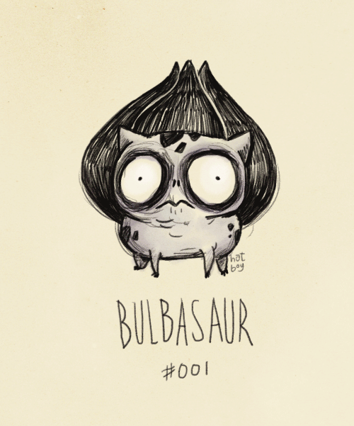 hatboy:  Bulbasaur #001 (Tim Burton Pokemans)