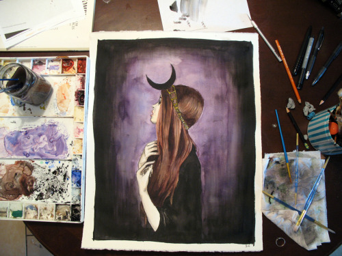 leahisawkward:  stayed up all night and did this watercolor painting.   thats amazing