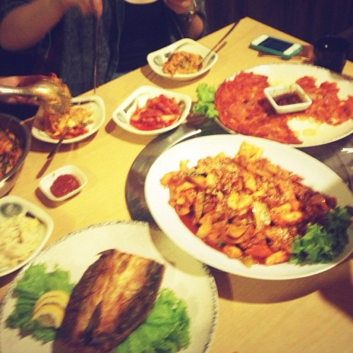 #yummy #korean #food  (Taken with Instagram at 1박2일 (1Night 2Day) Korean BBQ)