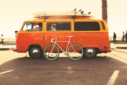 foxgloves:  State Bicycle Co. (by Navis Photography)  I want that bike!