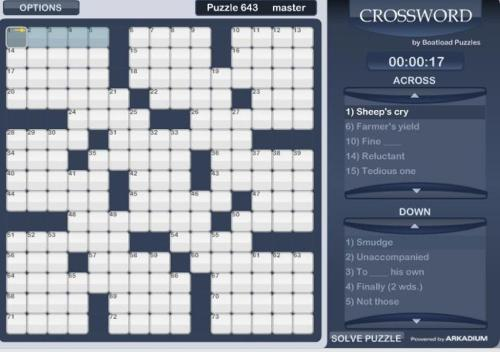 Feeling like some brain teasers? Here's a full supply of crossword puzzles for your Tuesday…