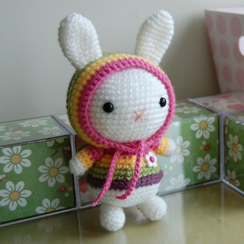 So sweet! Crochet Hippy Hoody Bunny from Pinterest Follow Livfoxx