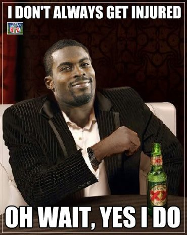 Mike Vick's Hurt. In other news, the sun came up today…