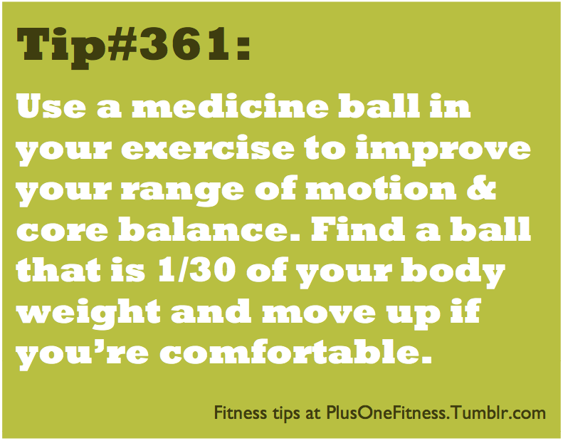 plusonefitness:  Fitness tip #361