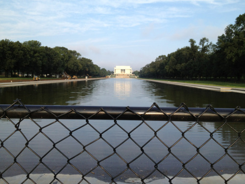 After a long rebuilding project, the Reflecting Pool is just about full once again!