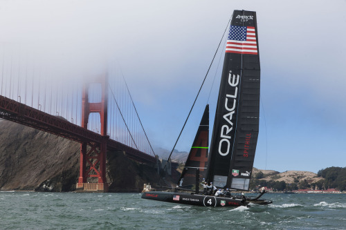pumasailing:  The America's Cup World Series 2012-13 begins today with practice racing on San Francisco Bay. Sailing schedule here. (Guilian Grenier/Oracle Team USA)